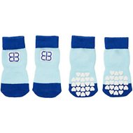 Petego Traction Control Indoor Dog Socks, Blue/Light Blue, Large