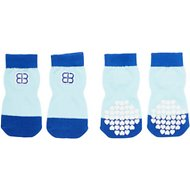 Petego Traction Control Indoor Dog Socks, Blue/Light Blue, X-Large