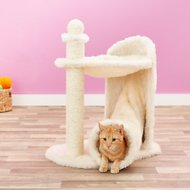 Trixie Gandia 26.75-in Cat Tree & Scratching Post, Cream