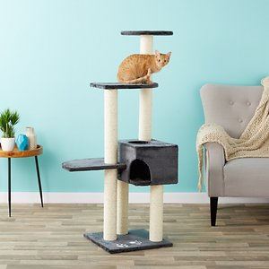 Trixie Alicante 55.75-in Faux Fleece Cat Tree & Condo