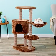 Trixie Moriles 38.75-in Cat Tree & Scratching Post, Brown