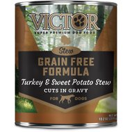 Victor Grain-Free Turkey & Sweet Potato Stew Canned Dog Food, 13.2-oz, case of 12