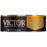 Victor Shredded Chicken Dinner in Gravy Canned Cat Food, 5.5-oz, case of 24