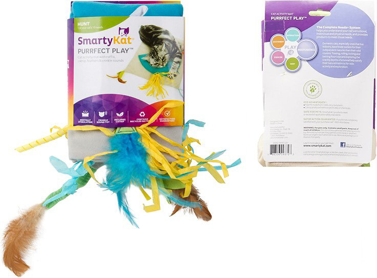 Smartykat Purrfect Play Cat Activity Mat Chewy Com