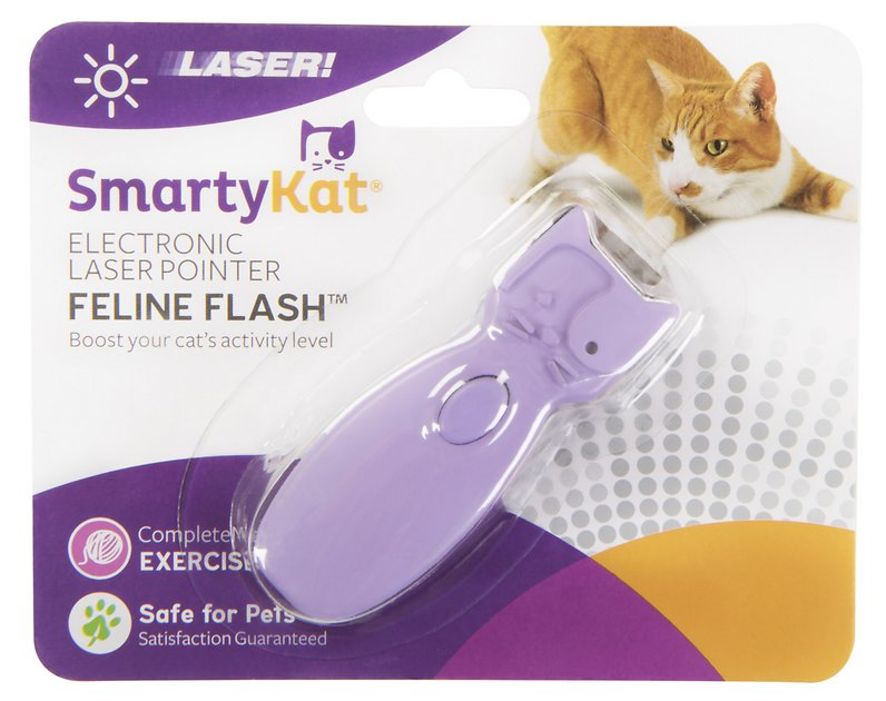 2. SmartyKat Feline Flash Laser Toy
