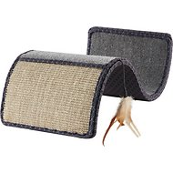 SmartyKat Scratch Scroll Cat Scratcher with Feather Toy, Color Varies
