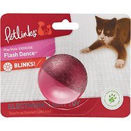 Petlinks Flash Dance Touch-Activated Light Ball Cat Toy, Color Varies