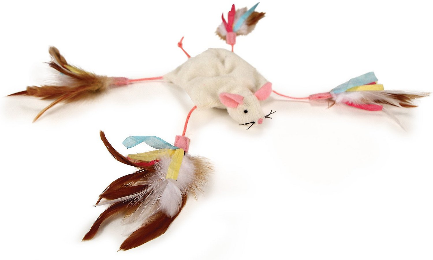 Petlinks Cutie Mouse Long Legged Crinkle Cat Toy Chewy Com