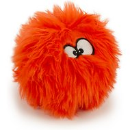 GoDog Furballz Chew Guard Dog Toy, Orange, Small