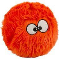 GoDog Furballz Chew Guard Dog Toy, Orange, Large