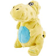 GoDog Dinos Chew Guard T-Rex Dog Toy, Yellow, Small