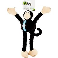 GoDog Crazy Tugs Chew Guard Monkey Dog Toy, Large, Black
