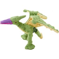 GoDog Dinos Chew Guard Terry Dog Toy, Green, Small