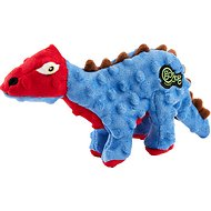 GoDog Dinos Chew Guard Spike Dog Toy, Blue, Small