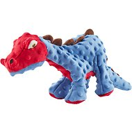 GoDog Dinos Chew Guard Spike Dog Toy, Blue, Large