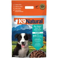 K9 Natural Grass Fed Beef Feast with Hoki Oil Grain-Free Puppy Freeze-Dried Dog Food, 4-lb bag