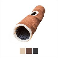 Easyology Premium Crinkle Chute Cat Tunnel Cat Toy, Brown