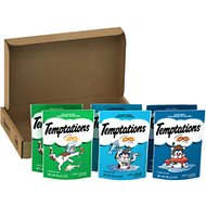 Temptations Seafood Lovers Variety Pack Cat Treats, 3-oz pouch, case of 6