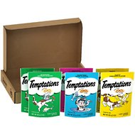 Temptations Feline Favorites Variety Pack Cat Treats, 3-oz pouch, case of 6