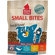 Plato Small Bites Slow Roasted Salmon Dog Treats, 10.5-oz bag