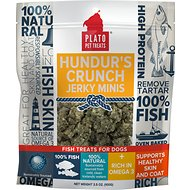 Plato Hundur's Crunch Fish Jerky Mini's Dog Treats, 3.5-oz