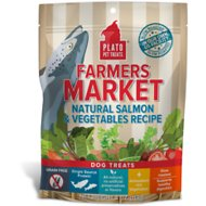 Plato Farmers Market Salmon & Vegetables Grain-Free Dog Treats, 4-oz bag