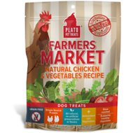 Plato Farmers Market Chicken & Vegetables Grain-Free Dog Treats, 4-oz bag