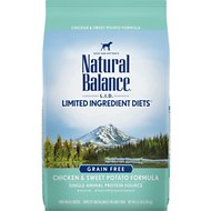 Natural Balance L.I.D. Limited Ingredient Diets Chicken & Sweet Potato Formula Grain-Free Dry Dog Food, 4.5-lb bag