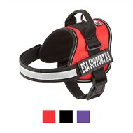 Doggie Stylz ESA Support K-9 Harness, Red, Medium