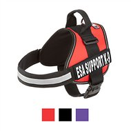 Doggie Stylz ESA Support K-9 Harness, Red, Large