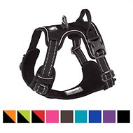 Chai's Choice 3M Reflective Dog Harness, Black, Medium