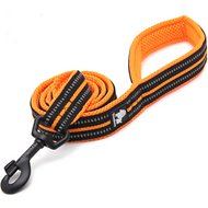 Chai's Choice Padded 3M Reflective Dog Leash, Orange, Large, 78-in