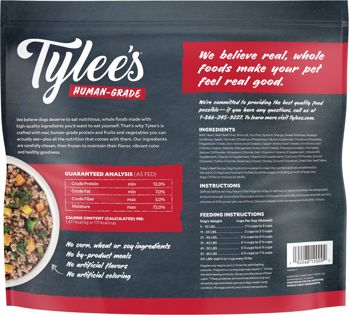 Tylees human grade beef recipe frozen dog food 6 lb bag chewy video forumfinder Choice Image