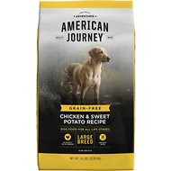 American Journey Large Breed Chicken & Sweet Potato Recipe Grain-Free Dry Dog Food, 24-lb bag