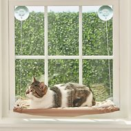 Oster Sunny Seat Window Mounted Cat Bed, Brown