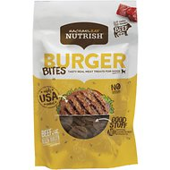 Rachael Ray Nutrish Grain-Free Burger Bites, Beef Burger with Bison Dog Treats, 3-oz bag