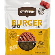 Rachael Ray Nutrish Burger Bites, Beef Burger with Bison Grain-Free Dog Treats