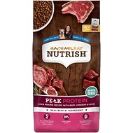 Rachael Ray Nutrish Peak Grain-Free Natural Open Range Recipe with Beef, Venison & Lamb Dry Dog Food, 4-lb bag
