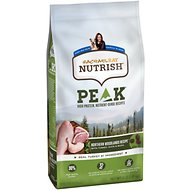 Rachael Ray Nutrish Peak Grain-Free Natural Northern Woodlands Recipe with Turkey, Duck & Quail Dry Dog Food, 4-lb bag