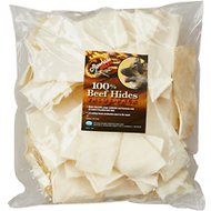 PetAg Rawhide Brand Natural Beef Hides Chips Dog Treats, 32-oz bag