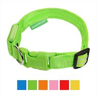 Illumiseen LED USB Rechargeable Dog Collar, Green, Medium