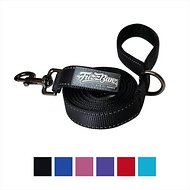 FuzzBunz Heavy Duty Padded Handle Reflective Dog Lead, 6-ft, Black