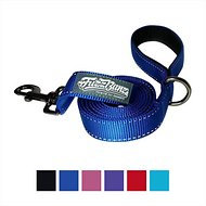 FuzzBunz Heavy Duty Padded Handle Reflective Dog Lead, Blue, 6-ft