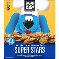 Blue Dog Bakery Super Stars Assorted Flavors Dog Treats, 18-oz box