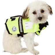 Paws Aboard Yellow Dog Life Jacket, XX-Small