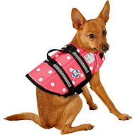 Paws Aboard Pink Polka Dot Dog Life Jacket, X-Small