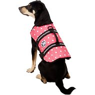 Paws Aboard Pink Polka Dot Dog Life Jacket, Medium