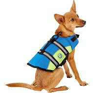 Paws Aboard Blue & Yellow Neoprene Dog Life Jacket, X-Small