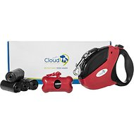Cloud 9 Pet Supplies Retractable Dog Leash Kit, Red & Black