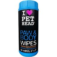 Pet Head Paw & Body Wipes 50 count